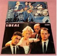 2 Kleine Poster  Band Ideal  -  Rückseite : Kim Wilde ,  Von Pop-Rocky Und Bravo Ca. 1982 - Plakate & Poster