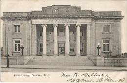 Public Library ,Paterson ,N.J.     Post  Card 1907  USA - Paterson