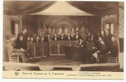"""MANAGE - Théâtre Dans Les Ténèbres Par G. Paternotre """"La Cour D'Assises"""" Représenté à Fayt-Lez-Manage Le 26/03/1933 - Ju - Manage"""