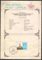 PAKISTAN 1986 Centenary Of Government S.E. College Bahawalpur, Brocher With Stamp Affixed And FDI, As Per Scan - Pakistan