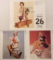 LOT 3 ELVGREN~PINUP SEXY GIRLS~SEMI NUDE~ 2007 TASCHEN Table Calendar #2 - Calendars