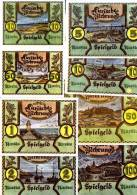 Lithuania  Spielgeld UNC Set Without Numbers Of 8 B/notes - Billets
