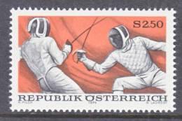 Austria 994  **  SPORTS  FENCING - 1945-.... 2nd Republic