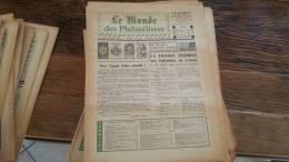 LOT 418 JOURNAL LE MONDE DES PHILATELISTES N�281