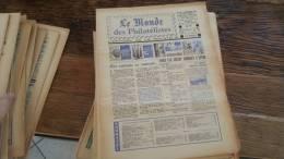 LOT 420 JOURNAL LE MONDE DES PHILATELISTES N�279