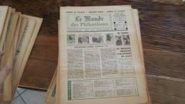 LOT 421 JOURNAL LE MONDE DES PHILATELISTES N�278