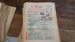 LOT 422 JOURNAL LE MONDE DES PHILATELISTES N�277