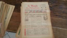 LOT 425 JOURNAL LE MONDE DES PHILATELISTES N�274