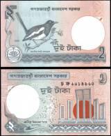 Bangladesh 2003 2 Taka Bird Banknotes Uncirculated UNC - Bankbiljetten