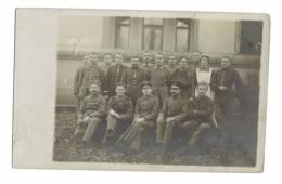 Carte Photo Hopital Allemagne Soldats Infirmière - Guerre 1914-18
