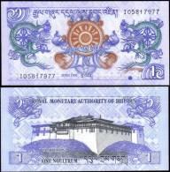 Bhutan 2006 1 Ngultrum Banknotes Uncirculated UNC - Bankbiljetten