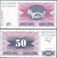 Bosnia & Herzegovina 1992 50 Dinara Banknotes UNC - Bankbiljetten