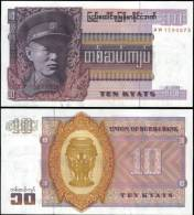 Burma 10 Kyats Banknotes Uncirculated UNC - Bankbiljetten