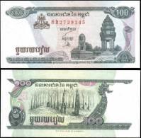 Cambodia 1998 100 Riels Banknotes Uncirculated UNC - Bankbiljetten