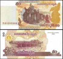 Cambodia 2002 50 Riels Banknotes Uncirculated UNC - Billets