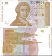 Croatia 1991 1 Dinar Tower Banknotes Uncirculated UNC - Bankbiljetten