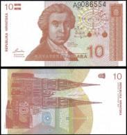 Croatia 1991 10 Dinara Tower Banknotes Uncirculated UNC - Bankbiljetten