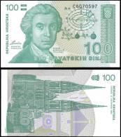 Croatia 1991 100 Dinara Banknotes Uncirculated UNC - Bankbiljetten