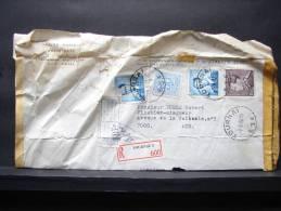 VB27. Lettre Timbrées Recommandée Et Avis De Maison Fermée - Marcophilie