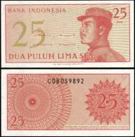 Indonesia 1964 25 Sen Banknotes Uncirculated UNC - Bankbiljetten