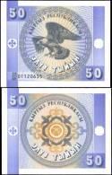 Kyrgyzstan 50 Tiyin Eagle Banknotes Uncirculated UNC - Bankbiljetten