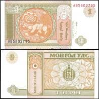 Mongolia 1 Tugrik Banknotes Uncirculated UNC - Bankbiljetten