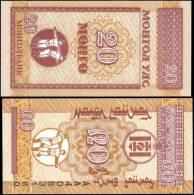 Mongolia 20 Mongo Banknotes Uncirculated UNC - Bankbiljetten