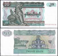 Myanmar 20 Kyats Banknotes Uncirculated UNC - Bankbiljetten