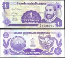 Nicaragua 1 Centavo Banknotes Uncirculated UNC - Bankbiljetten