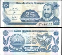 Nicaragua 25 Centavos Banknotes Uncirculated UNC - Bankbiljetten