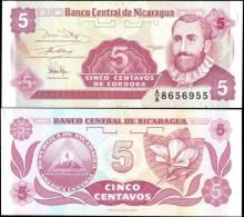 Nicaragua 5 Centavos Banknotes Uncirculated UNC - Bankbiljetten