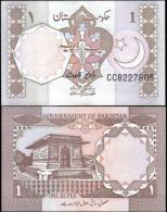 Pakistan 1 Rupee Banknotes Uncirculated UNC - Bankbiljetten