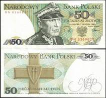 Poland 1988 50 Zlotych Banknotes Uncirculated UNC - Bankbiljetten