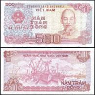 Vietnam 1988 500 Dong Ship Banknotes Uncirculated UNC - Bankbiljetten