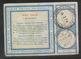 INDIA  1974  - 1.50 R  I.R.C. Encashed At Germany  #  42854   Indien Inde - India