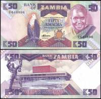 Zambia P28 50 Kwacha Eagle Banknotes Uncirculated UNC - Bankbiljetten