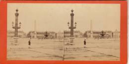 Photo Stereo Paris Place De La Concorde - Stereoscopic