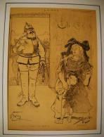 Dessin De O' GALOP  - Paru  Dans Le RIRE N° 145 - Du 11 AOUT 1897 - ALSACE - Disegni
