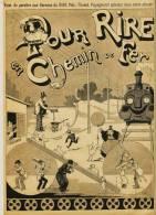 Dessin De B.RABIER - Paru  Dans Le RIRE N° 34 - Du 29 JUIN 1895 - CHEMIN De FER - Drawings