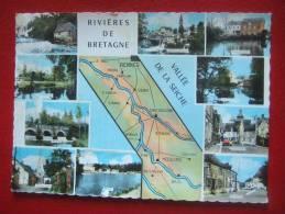 35 - RIVIERES DE BRETAGNE - VALLEE DE LA SEICHE -- BOISTRUDAN , AMANLIS , PIRE SUR SEICHE , MOULINS ,NOYAL SUR S..RARE - - France
