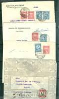 Lot De 4 Lettres Affranchies Colombie Pour Colombie Années 30 / 1940  - Am22 - Colombia