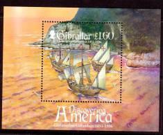 Gibraltar Christopher Columbus Souv. Sheet Mint NH - Gibraltar