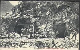 CPA-028-. Tres Peu Courante,  Le Début Des Travaux Du Tunnel De Simplon ( Iselle-Brigue )voir IMAGEpour Detail, A Saisir - VS Valais