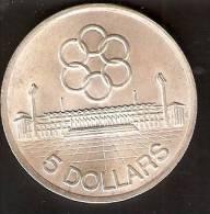 MONEDA DE PLATA DE SINGAPORE DE 5 DOLLARS DEL AÑO 1973 - OLIMPIC  (COIN) SILVER,ARGENT. - Singapur