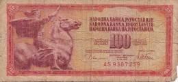 100 DINARA 1978, Banknote, Umlaufschein - Jugoslawien