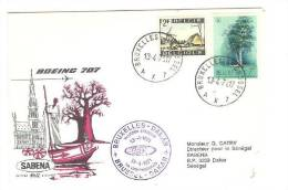SABENA Boeing 707 Aviation Airlines Cover, Airplane, PU-1971 - Airmail
