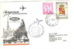 SABENA Boeing Jet Transcontinental Airlines Cover, Aviation - Airplane, PU-1967 - Airmail