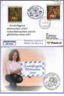 Sonderflug Weihnachten 2000 Wien - Vatikan Karte (211) - AUA-Erstflüge