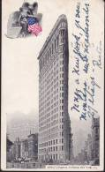"""CPA - (Etats-Unis) New-York - The """"flatiron"""" Buiding - Broadway Fifth Ave. And 23rd Street (obl.1902) - New York City"""