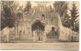 VAULX-LEZ-ROSIERES-GROTTE -NOTRE DAME DE LOURDES-CLICHE E INCONNUE SUR DELCAMPE!!-RARE-ENVOYEE 1937-VOIR 2 SCANS - Vaux-sur-Sûre